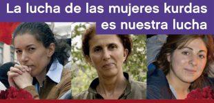 Argentina: homenaje a las luchadoras kurdas Sakine Cansız, Fidan Doğan y Leyla Şaylemez